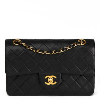Chanel VinBlack Quilted Lambskin Small Classic Double Flap Bag