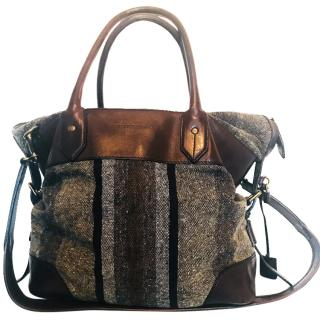 Rare Burberry Tweed/Leather weekend bag