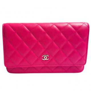 CHANEL Classic Quilted Calfskin Leather Wallet-On-Chain
