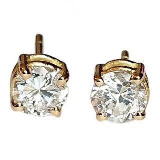 Celebrity Owned Diamond Earrings Cartier Backs 18ct Gold