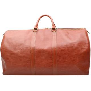 Louis Vuitton Keepall 55  Epi Leather Travel Bag