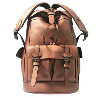 Coach Mens Large Saddle Backpack