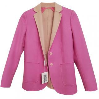 NEW MAX MARA Pink Cashmere Blend Blazer