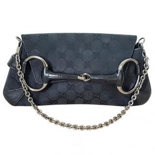 Gucci black horsebit handbag