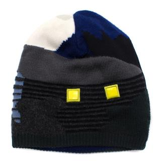 Kenzo reversible mountain pattern beanie