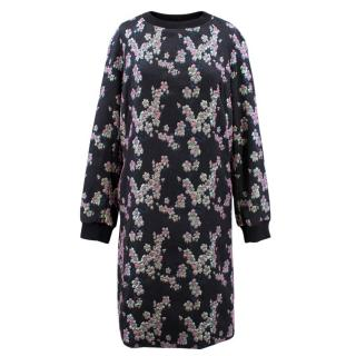 Dries Van Noten Black and Purple embroidered dress