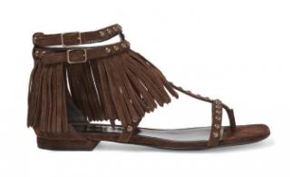 Ysl Saint Laurent Nu pieds fringed sandals