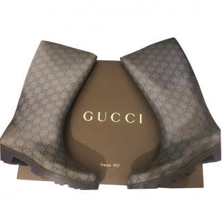 Gucci Rain Boots Transparent/ Blue