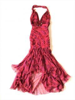 EMANUEL UNGARO silk embellished dress