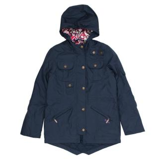 Barbour navy hello kitty parka jacket