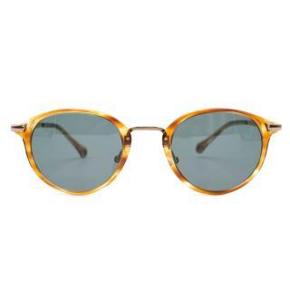 Ermengildo Zegna Tortoise print Sunglasses