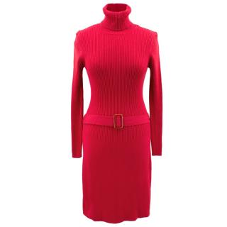 Georges Rech red knit cashmere dress