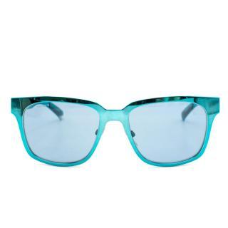 Burberry Metallic Blue Sunglasses
