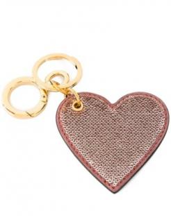 Burberry sequin heart keyring Pink