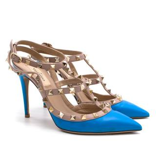 Valentino Blue Rockstud Heels