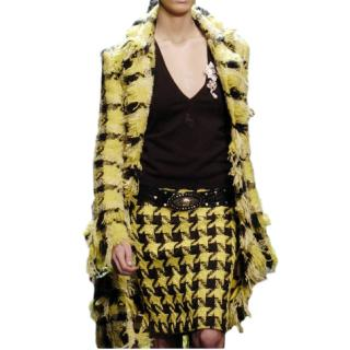 Versace wool houndstooth skirt