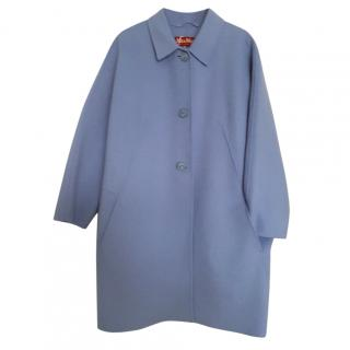 New MaxMara wool and cashmere blue coat