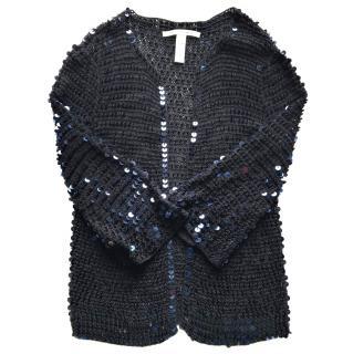 DIANE VON FURSTENBERG sequin embellished open cardigan