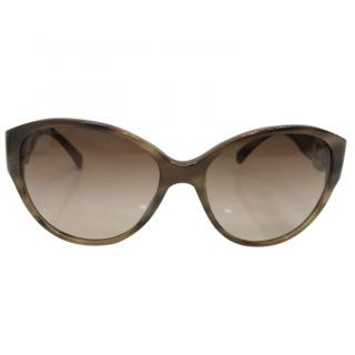 Chanel beige marble tone Sunglasses