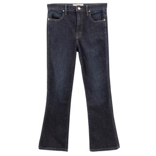 The Great dark denim washed straight jeans