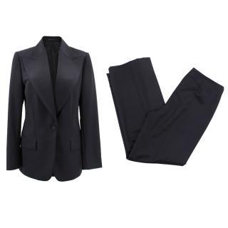 Gucci black wool trouser suit