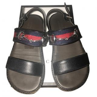 Gucci kids navy sandals