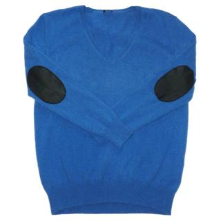 JOSEPH 100% Cashmere Jumper Leather Elbow Patches