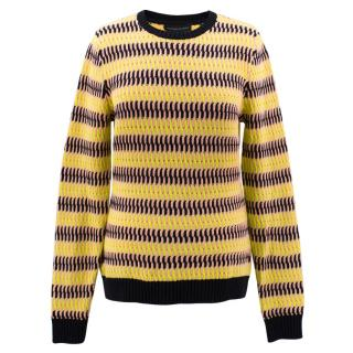 Jonathan Saunders Striped knit crew neck jumper