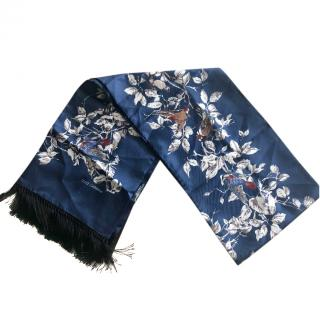 Dolce & Gabbana Blue silk Men scarf