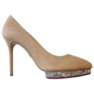 Charlotte Olympia Swarovski heels size 37