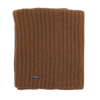 MaxMara brown cashmere and wool blend snood scarf