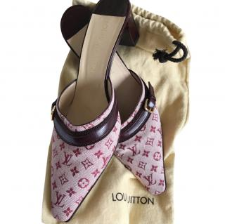 Louis Vuitton Pink Monogram Mules