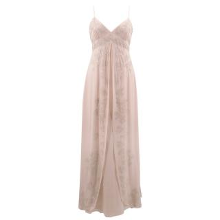 Temperley Pale Pink Sequinned Gown