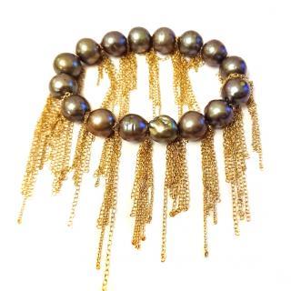 Samira 13 Tahitian Pearl Fringe Bracelet, RRP �379.00