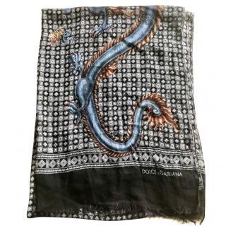 Dolce & Gabbana dragon print scarf