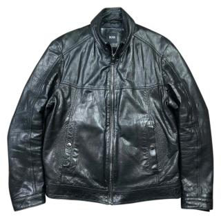 Hugo Boss Nadillo Leather Biker Jacket