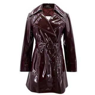 Maison Margiela Burgundy Patent Trench Coat