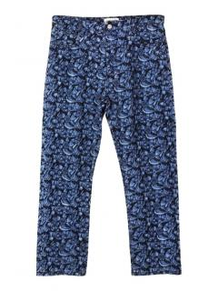 Isabel Marant Etoile embroidered floral skinny fit jeans
