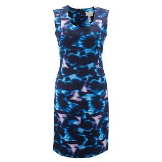 Erdem Blue Printed shift dress