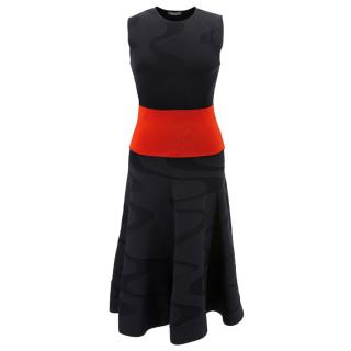 Alexander McQueen black & red knit dress