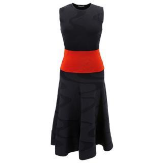 Alexander McQueen black & red knit dress