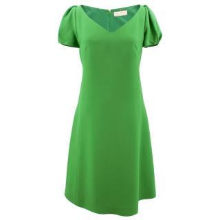 Mantu green v-neck dress