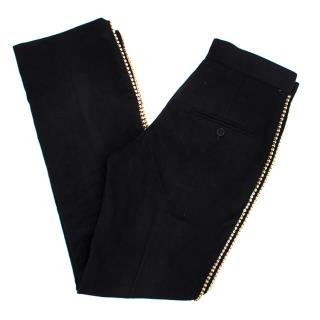 Isabel Marant black suede studded trousers