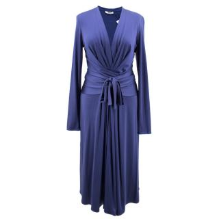 Issa Silk Blend Blue Tie Wrap Dress - As worn by Kate Middleton