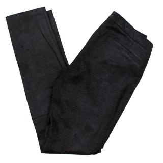 Helmut Lang Black Lambskin Leather Trousers
