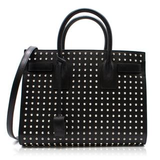 Saint Laurent Sac De Jour leather studded tote bag
