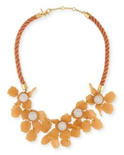 Lele Sadoughi Crustal Orchid Necklace RRP �300