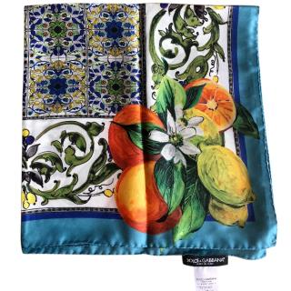 Dolce & Gabbana silk Sicily lemon scarf