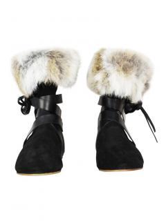 Isabel Marant rabbit-fur suede boots