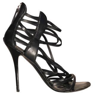 Giuseppe Zannuti black strappa sandals